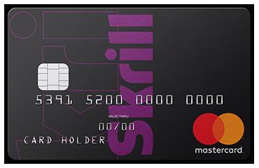 Skrill - karta przedpłacona Mastercard